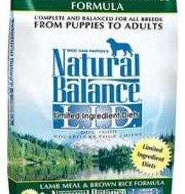 Natural Balance Natural Balance LID Lamb Meal & Brown Rice Dry Dog Food 28lb