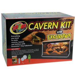 Zoo Med Zoo Med Cavern Kit with Excavator Clay Burrowing Substrate