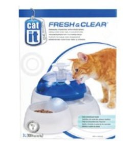 Catit Catit Design Fresh & Clear Cat Drinking Fountain with Food Bowl - 3 L (100 oz)