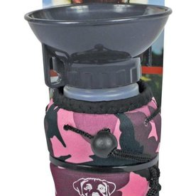 Lap it Up Lap It Up Dog Water Bottle Pink/Red Camo