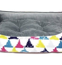 Be One Breed Cozy Bed Medium Colorful Triangle