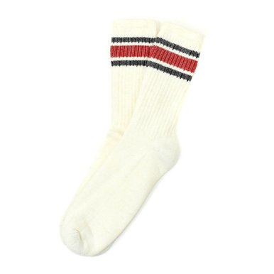 Merino Activity Sock Navy/Red Combo