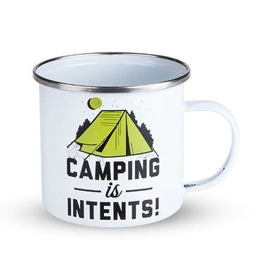 Camping Is Intents Enamel Mug