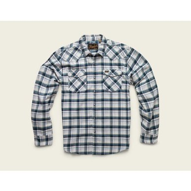 stockman flannel shirt: carrroll plaid: white/grey/green