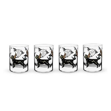 Hunting Dog Whiskey Glass Set