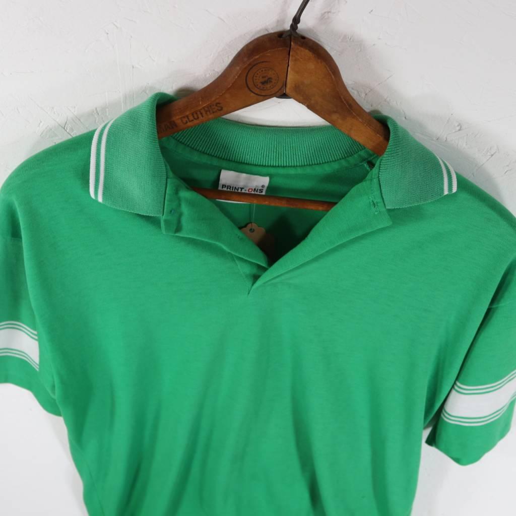 Green Striped Collared Shirt