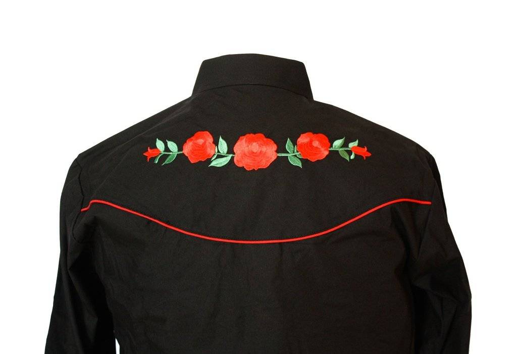 Vintage Roses Embroidered Shirt