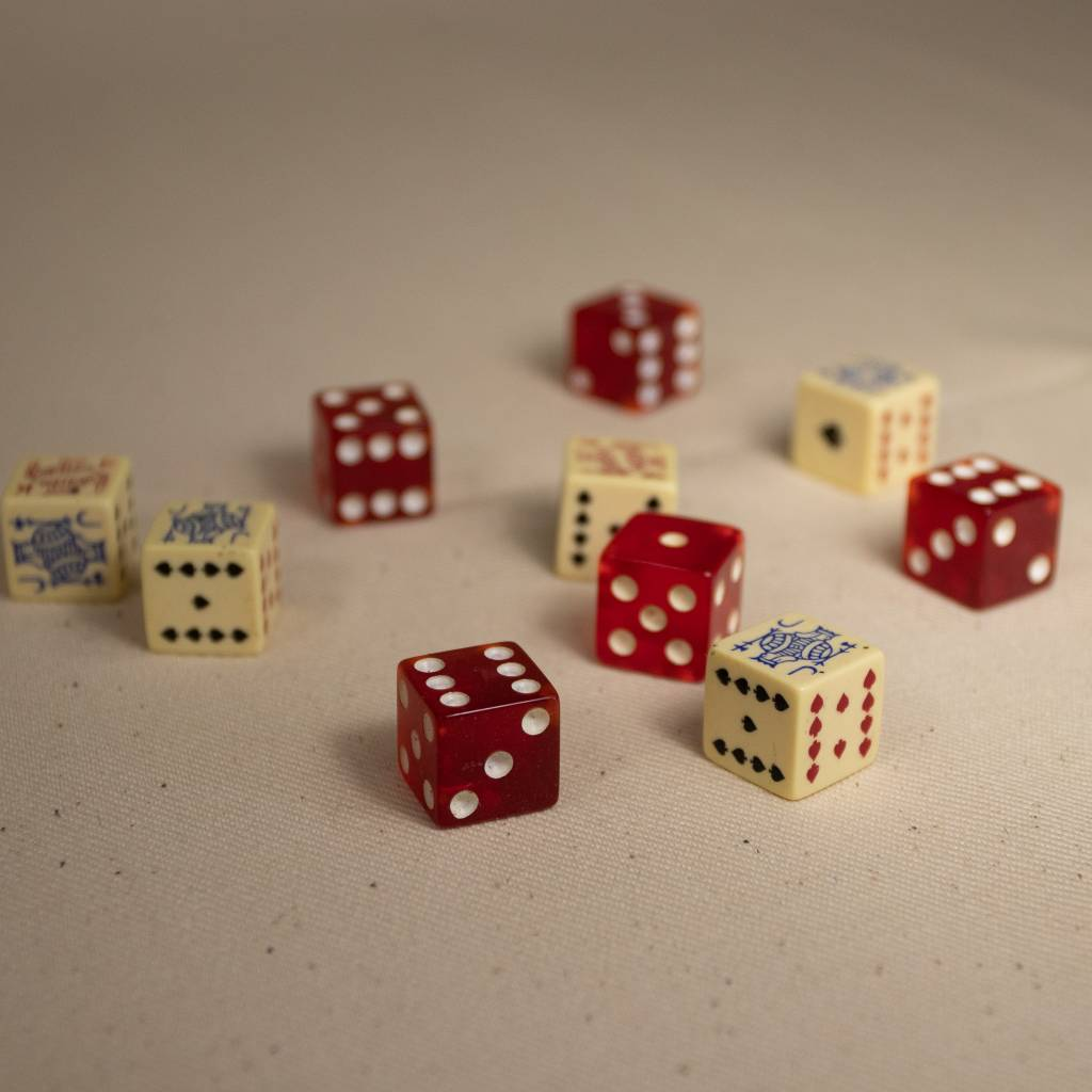Poker Dice Set Bakelite