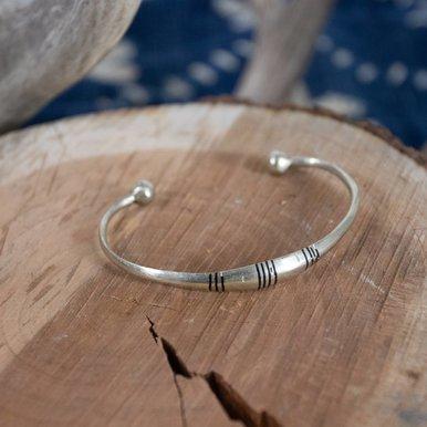 Sterling Hand Tooled Bracelet