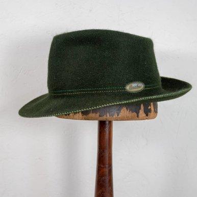 Borsalino Green Traveller's Hat 7 1/8