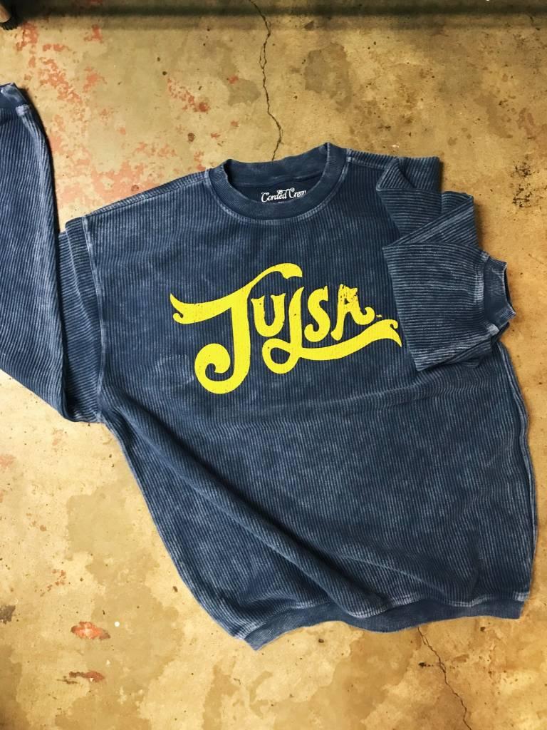 Ida Red Tulsa Prep Corded Crew Sweatshirt