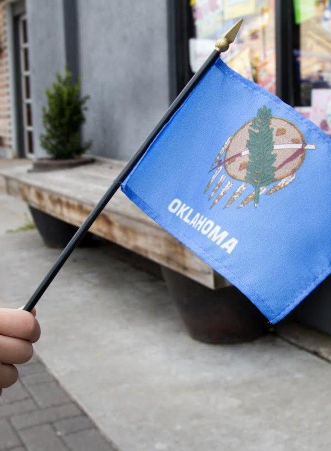 "4""x6"" Oklahoma Stick Flag"