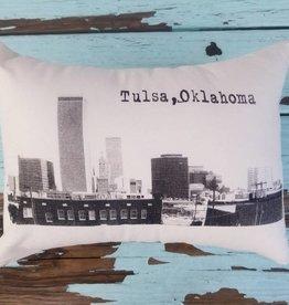 Oklahoma Made Tulsa Skyline Pillow