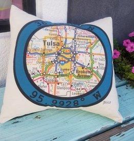 Hometown Latitude Pillow