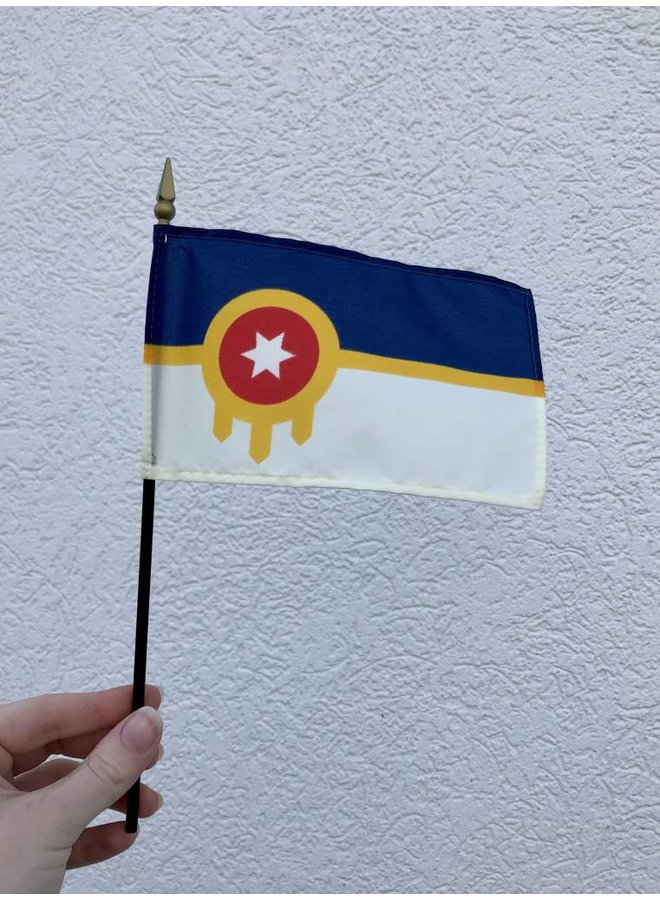 "Tulsa 4""x6"" Handheld Flag"