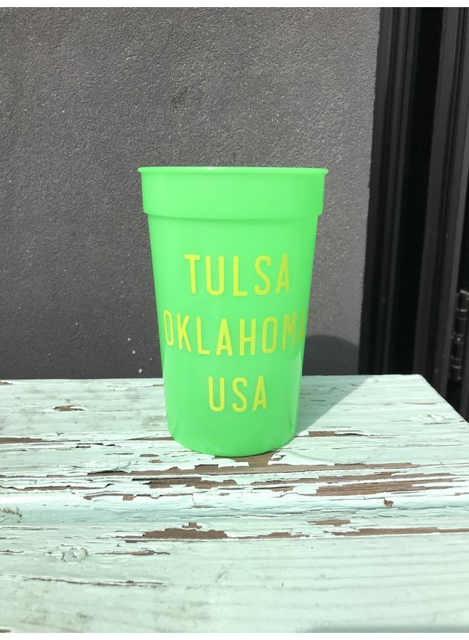 Tulsa USA Color Changing Stadium Cup