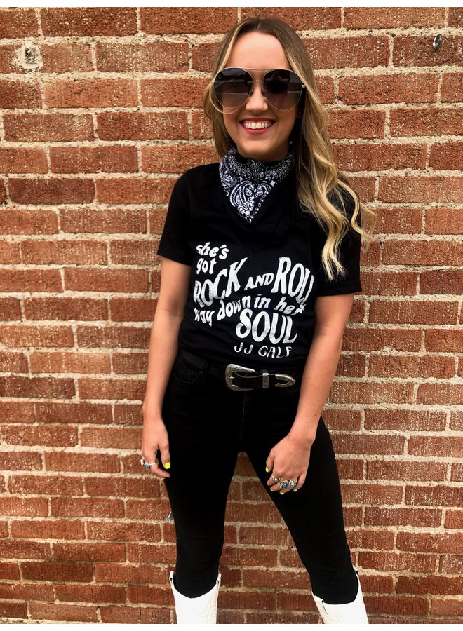 Rock and Roll Soul Women's Relaxed Vneck