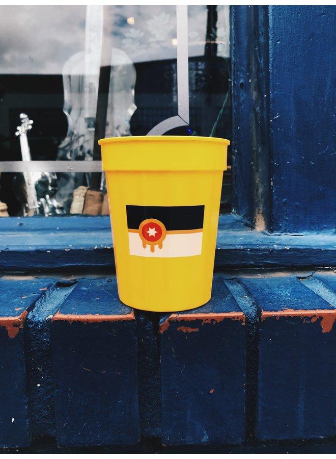 Tulsa Flag Yellow Stadium Cup