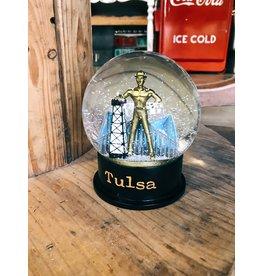 Ida Red Golden Driller Snow Globe