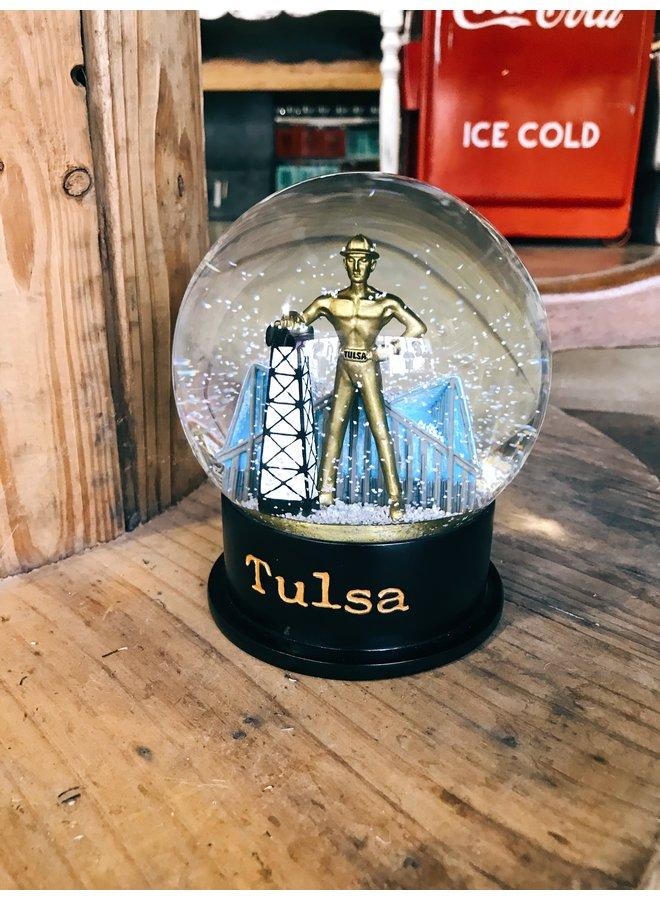 Golden Driller Snow Globe