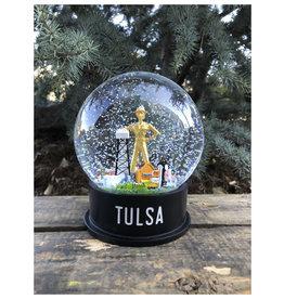Ida Red Midtown Tulsa Snow Globe