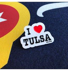 Steve Cluck I Heart Tulsa Pin