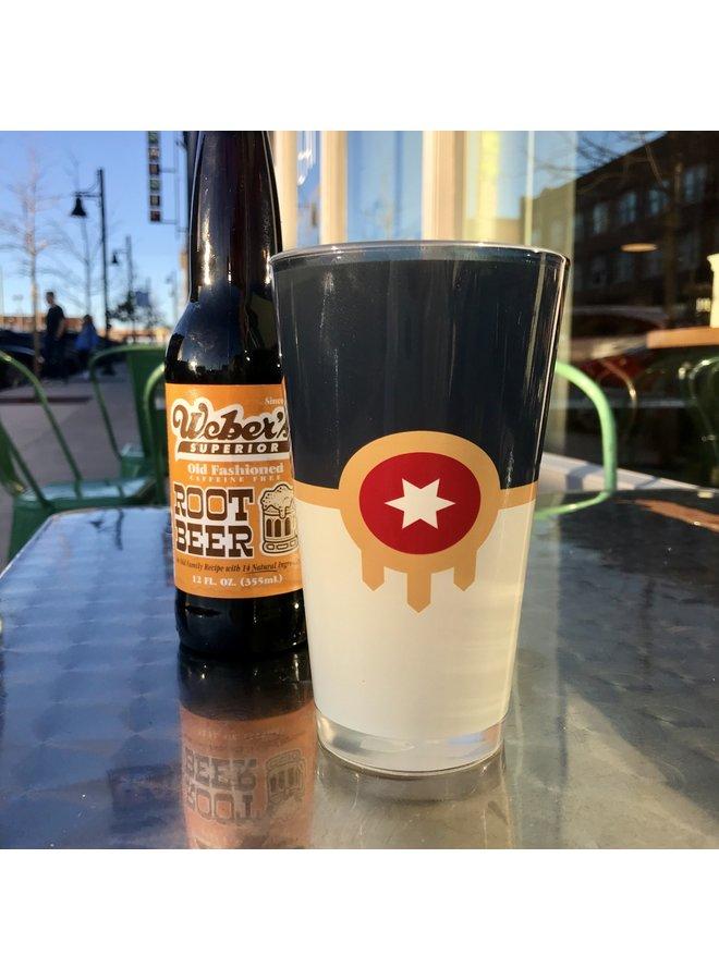 Tulsa Flag Pint Glass