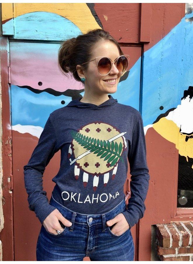 Oklahoma Osage Shield Jersey Long Sleeve Hoodie