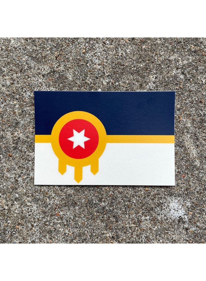 Tulsa Flag Sticker Large