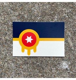 Ida Red Tulsa Flag Sticker Small