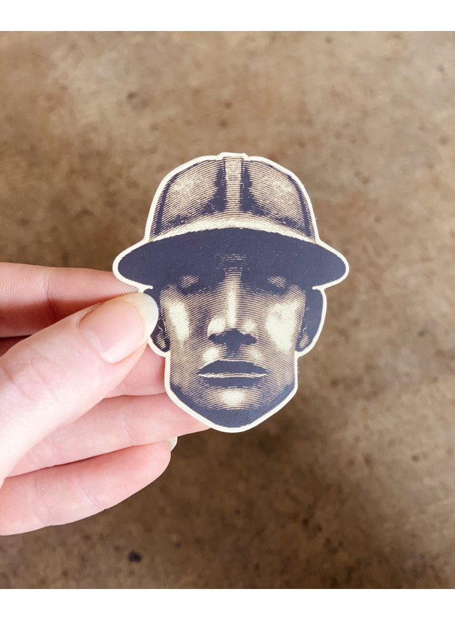 Driller Head Matte Sticker