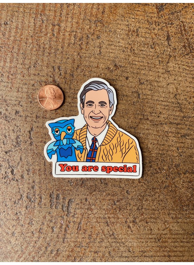 Mr. Rogers Special Sticker