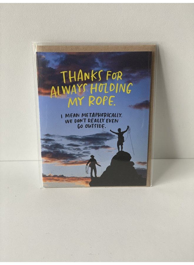 Card: Holding My Rope