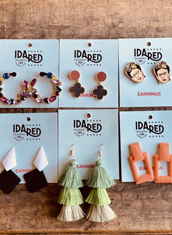 Ida Red Mystery Earring 3pk