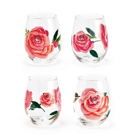 Twos Company Stemless Rose Wine Glass