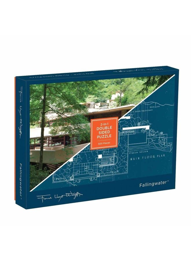 Double-sided Fallingwater Puzzle 500 pc