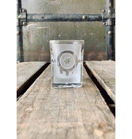 Chizel Tulsa Flag Sand-carved Shot Glass