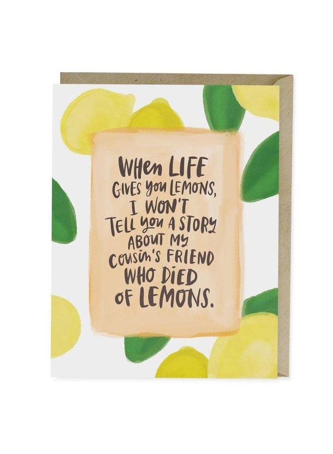 Died Of Lemons Card