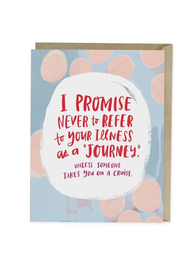 Card: Illness Is Not a Journey