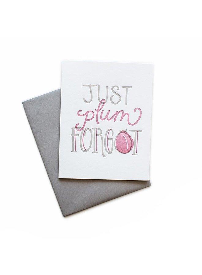 Just Plum Forgot Card