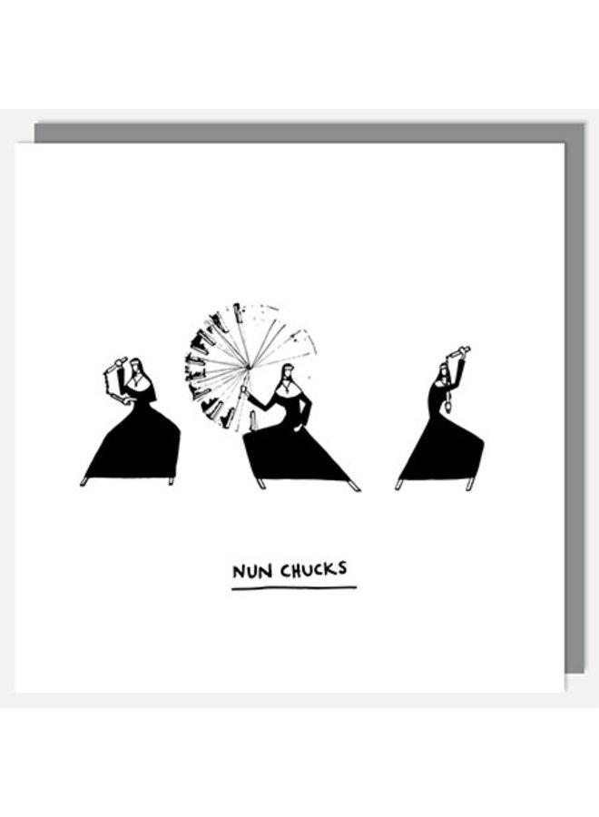 Nun Chucks Card