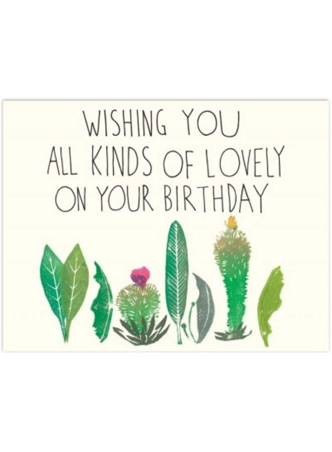 Lovely Plants Happy Birthday Card
