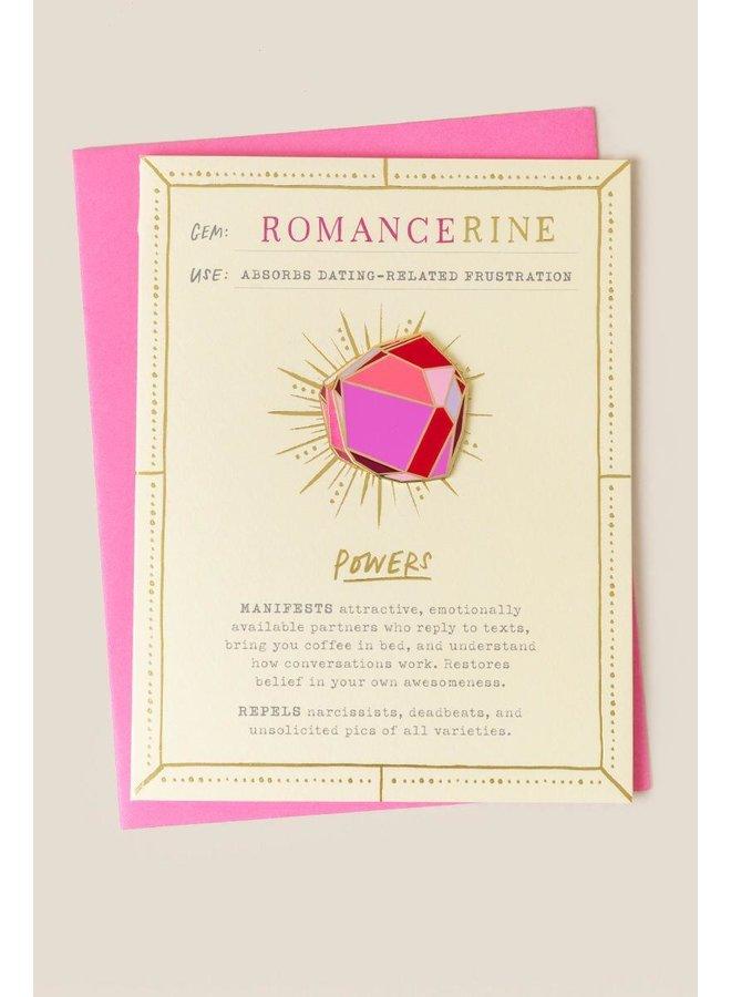 Gem Card and Enamel Pin Set- Romancerine