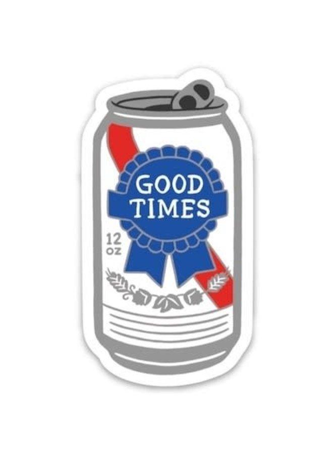 Good Times Beer Sticker