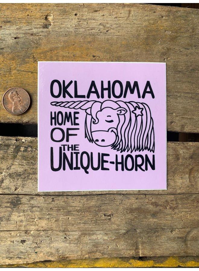Oklahoma Unique-Horn Sticker