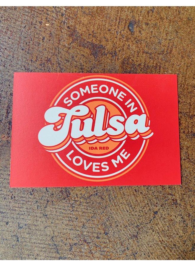 Someone In Tulsa Postcard
