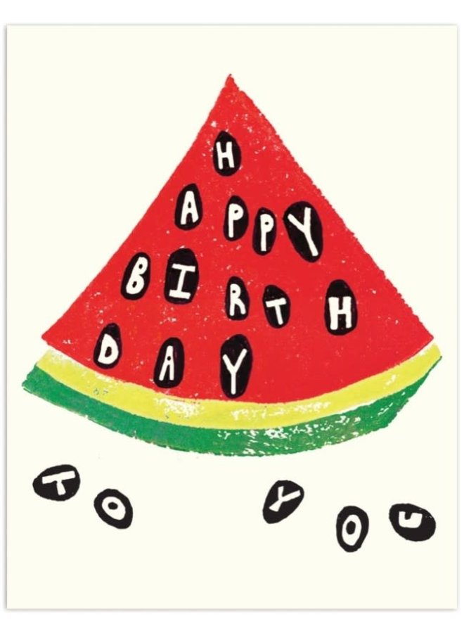 Watermelon Happy Birthday Card