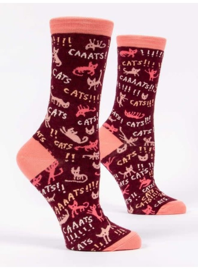 CATS! Women's Crew Socks