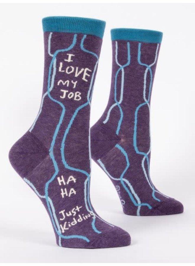 I Love My Job Women's Crew Socks