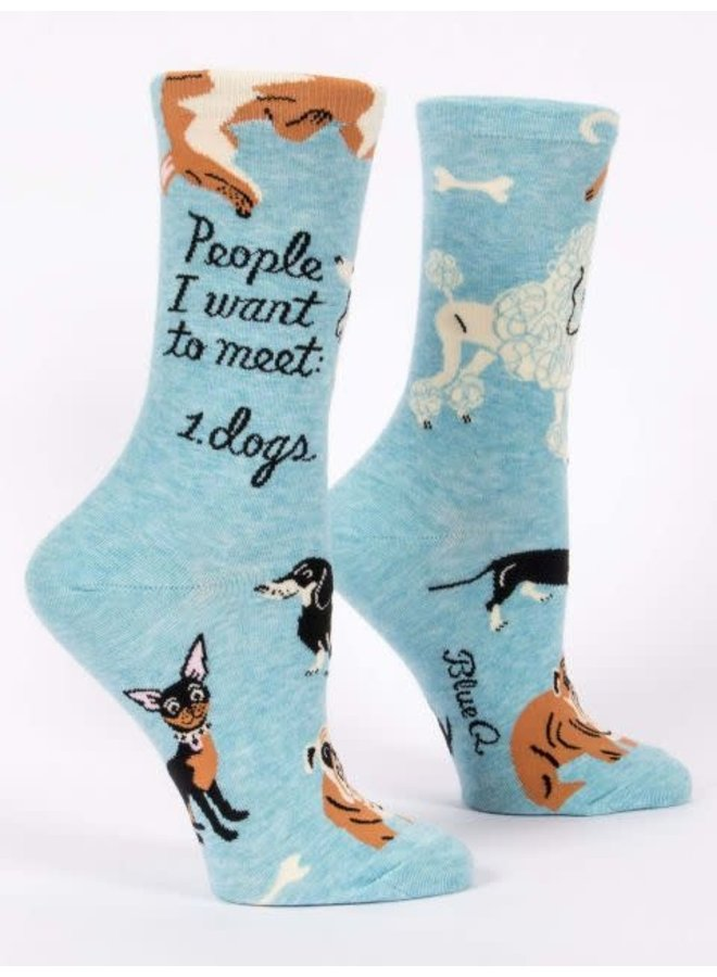 People To Meet Dogs Women's Crew Socks